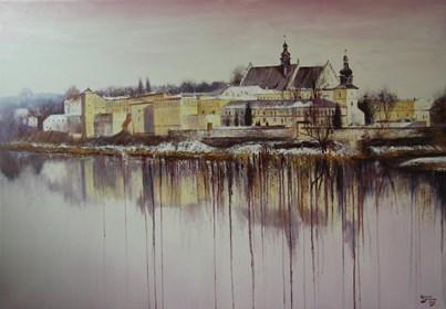 Obraz do salonu artysty Konrad Hamada pod tytułem Klasztor Norbertanek, Kraków