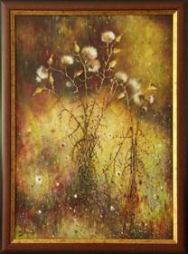 Obraz do salonu artysty Konrad Hamada pod tytułem Osty jesienią