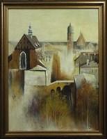 Obraz do salonu artysty Konrad Hamada pod tytułem Krakowski Kazimierz
