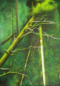 Obraz do salonu artysty Konrad Hamada pod tytułem Zieleń