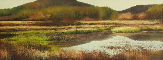 Living room painting by Konrad Hamada titled  Wetlands IV