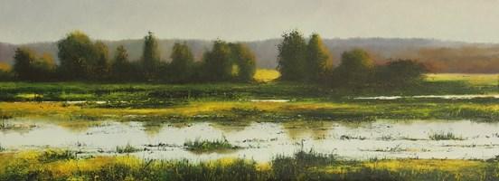 Living room painting by Konrad Hamada titled  Wetlands