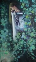 Obraz do salonu artysty Konrad Hamada pod tytułem W oczekiwaniu na miłość