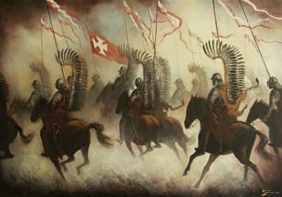 Obraz do salonu artysty Konrad Hamada pod tytułem Husaria