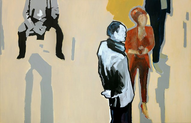 Living room painting by Krzysztof Musiał titled Waiting