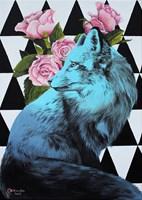 Living room painting by Zuzanna Jankowska titled Sentimental fox