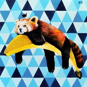 Obraz do salonu artysty Zuzanna Jankowska pod tytułem Król lenistwa
