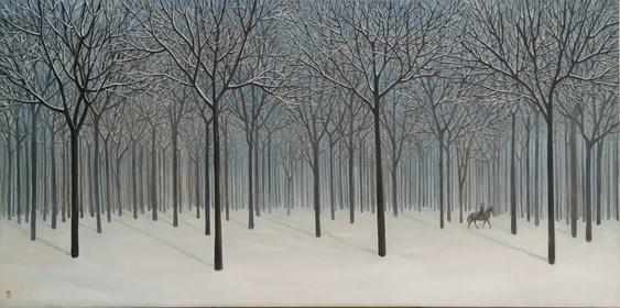 Obraz do salonu artysty Malwina de Brade pod tytułem Pieśń zimowa