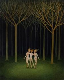 Obraz do salonu artysty Malwina de Brade pod tytułem Trzy Gracje