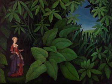 Living room painting by Malwina de Brade titled Garden