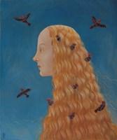 Obraz do salonu artysty Malwina de Brade pod tytułem Pani ptaków
