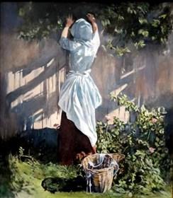 Obraz do salonu artysty Jan Dubrowin pod tytułem Panna z Barbizon