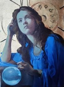 Obraz do salonu artysty Jan Dubrowin pod tytułem Wróżka