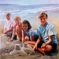 Obraz do salonu artysty Jan Dubrowin pod tytułem Plaża Wypieki