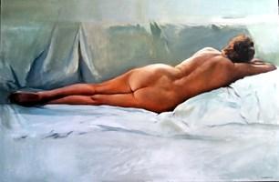 Obraz do salonu artysty Jan Dubrowin pod tytułem Odpoczynek