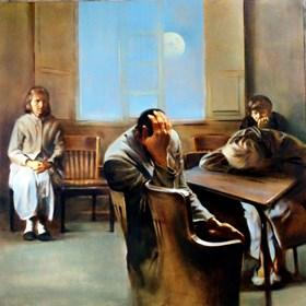 Obraz do salonu artysty Jan Dubrowin pod tytułem Noc