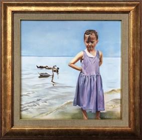 Obraz do salonu artysty Jan Dubrowin pod tytułem Na plaży