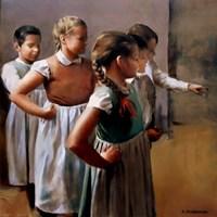 Obraz do salonu artysty Jan Dubrowin pod tytułem Próba
