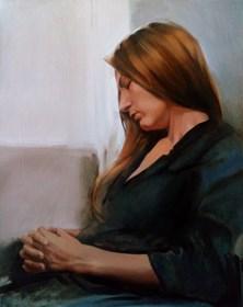 Obraz do salonu artysty Jan Dubrowin pod tytułem Odpoczynek modelki