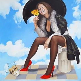 Obraz do salonu artysty Andrejus Kovelinas pod tytułem Happyness