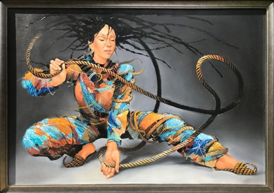 Obraz do salonu artysty Andrejus Kovelinas pod tytułem Egzotyczna tancerka