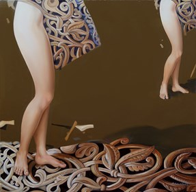 Obraz do salonu artysty Andrejus Kovelinas pod tytułem Duality
