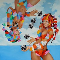 Obraz do salonu artysty Andrejus Kovelinas pod tytułem Sky jonglers