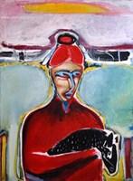 Obraz do salonu artysty Maciej Cieśla pod tytułem Kobieta wyzwolona