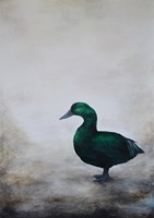 Living room painting by Klaudia Choma titled Duck
