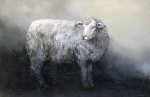 Living room painting by Klaudia Choma titled  Sheep