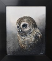 Living room painting by Klaudia Choma titled Tawny owl