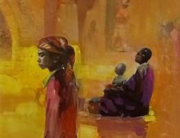 Obraz do salonu artysty Michał Smółka pod tytułem Afryka