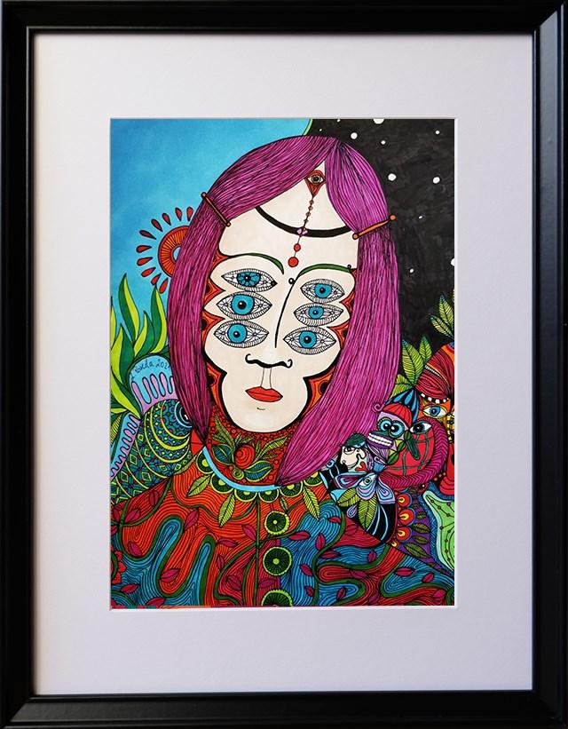 Obraz do salonu artysty Luiza Poreda pod tytułem Psychedelic evolution