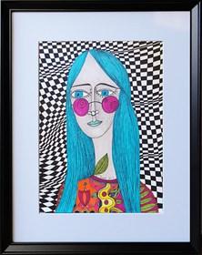 Obraz do salonu artysty Luiza Poreda pod tytułem Behind pink glasses