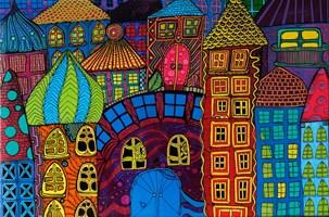 Obraz do salonu artysty Luiza Poreda pod tytułem Z serii Kolorowe Miasta