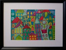Obraz do salonu artysty Luiza Poreda pod tytułem Z cyklu  Wyśnione Miasta 1