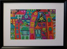 Obraz do salonu artysty Luiza Poreda pod tytułem Z serii Wyśnione Miasta 2