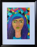 Obraz do salonu artysty Luiza Poreda pod tytułem Gwiazdy we włosach