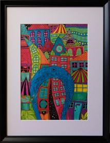 Obraz do salonu artysty Luiza Poreda pod tytułem Wisła, duch miasta