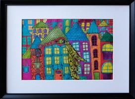 Obraz do salonu artysty Luiza Poreda pod tytułem Wyśnione miasto