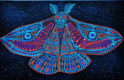 Obraz do salonu artysty Luiza Poreda pod tytułem Saturnia pavonia
