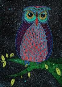 Obraz do salonu artysty Luiza Poreda pod tytułem Animal planet: eagle owl