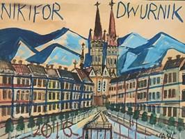 Obraz do salonu artysty Edward Dwurnik pod tytułem Bez tytułu