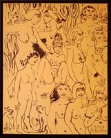 Obraz do salonu artysty Edward Dwurnik pod tytułem Dziesięć