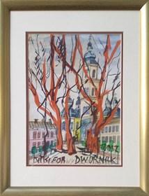 Obraz do salonu artysty Edward Dwurnik pod tytułem Nikifor-Dwurnik - Nowy Sącz