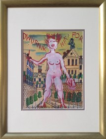 Obraz do salonu artysty Edward Dwurnik pod tytułem Nikifor-Dwurnik: Miasto