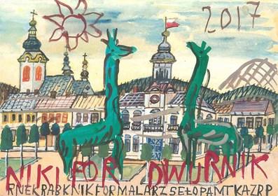 Obraz do salonu artysty Edward Dwurnik pod tytułem Nikifor 3