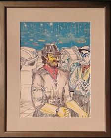 Obraz do salonu artysty Edward Dwurnik pod tytułem Gra w 3 karty