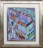 Obraz do salonu artysty Edward Dwurnik pod tytułem Plac Zamkowy