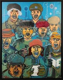 Obraz do salonu artysty Edward Dwurnik pod tytułem Legiony Rydzyka